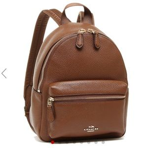 Coach brown small backpack